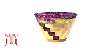 Resin & Wood - Wood Turning a Unique Segmented Bowl