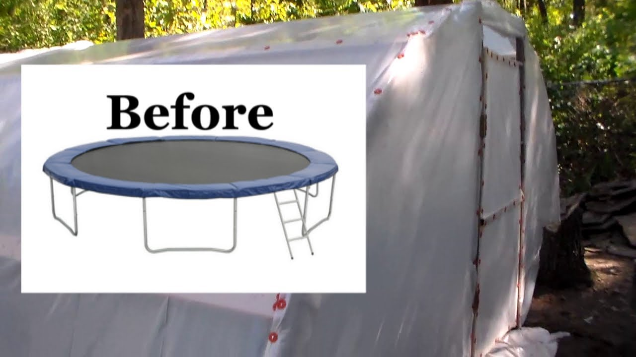 Turn A Trampoline Into A Polytunnel Greenhouse Quot Start To