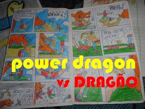 Minhas historias em quadrinhos #19 POWER DRAGON, NOVAS FBZ