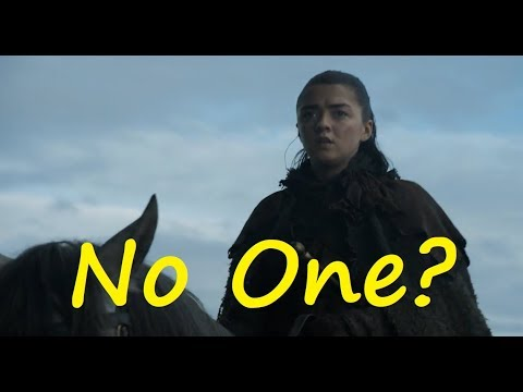 Is Arya No One? Game of Thrones, A Song of Ice and Fire