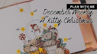 Plan with Me | Bullet Journal Weekly - A Kitty Christmas