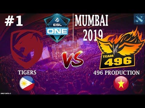 КАК ДЕНДИ ИГРАЕТ в НОВОЙ КОМАНДЕ?! | Tigers vs 496 #1 (BO3) | ESL One Mumbai 2019 Open Qualifier