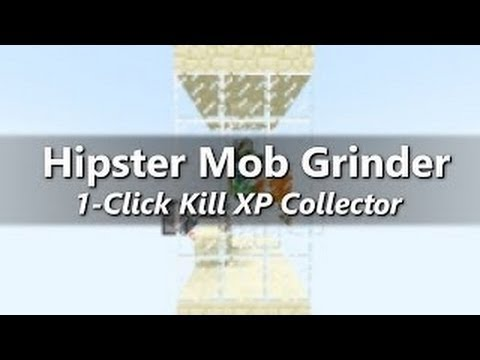 Minecraft 1.8 Tutorial: HIPSTER MOB GRINDER XP FARM (NEW CONCEPT)