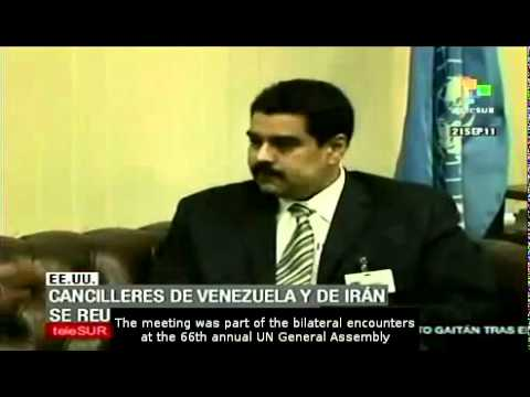 Meeting between the foreign ministers of Iran and Venezuela