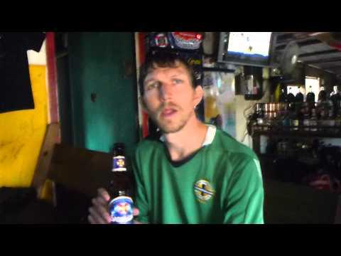 Having a drink in Skid Row Bar   Utila   Honduras   September 2014