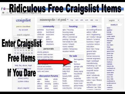 Crazy Free Stuff On Craigslist Free Craigslist Stuff