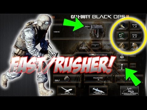 Best Rushing/Fast Custom Class In Black Ops 2 Setup (BO2 Gameplay Commentary)