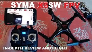 SYMA X5SW FPV QuadCopter Drone Review - Setup, Flight Test, Pros & Cons [Battery Upgrade]