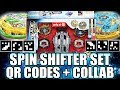 TARGET EXCLUSIVE QR CODES SPIN SHIFTER SET + COLLAB C/ ZANKYE! BEYBLADE BURST APP QR CODES