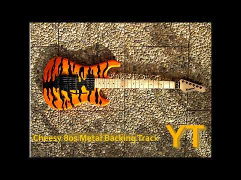 Cheesy 80s Metal Backing Track in C Minor