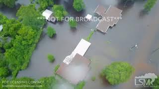 08-29-2017 Vidor, TX - Major Flooding Aerial Video