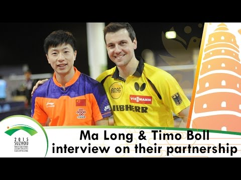 Ma Long & Timo Boll Interview on their #ITTFWorlds2015 Partnership