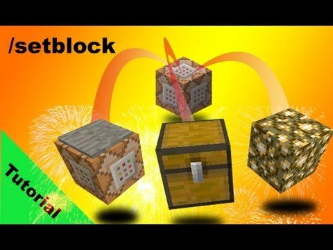 Setblock command Tutorial and parkour minigame in Minecraft 1.7 [13w37b]