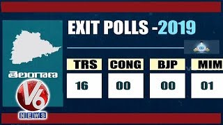 Exit Polls Survey Results For Lok Sabha Elections In Telangana | TRS Leads