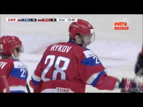 МЧМ по хоккею 2016 Россия - Словакия 2:1 (голы)