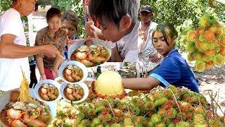 Eat Chysee Noodle at Bo Rai District | Visit Rambutan Plantation at Trat Province Thailand