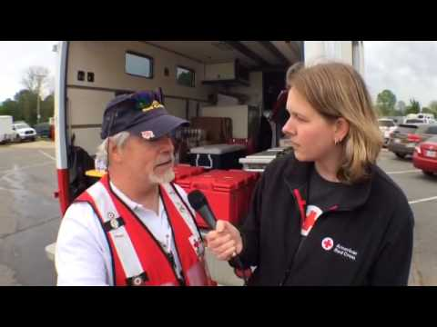 Red Cross Relief Trucks Provide Meals for Vilonia, AR Residents