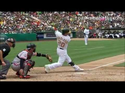 Josh Donaldson Slow Motion Home Run Baseball Swing Hitting Mechanics Instruction Oakland A's MLB