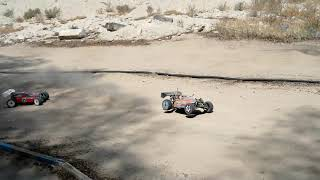 Playing RC Buggy 1/8 scale nitro with friends