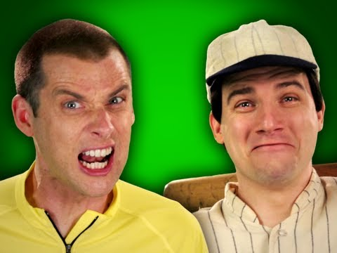 Epic Rap Battles Of History -behind The Scenes - Babe Ruth Vs Lance Armstong video