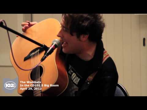 The Wombats in the CD102.5 Big Room