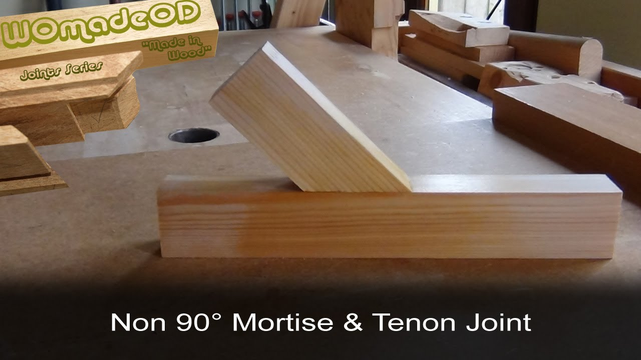 Mortise And Tenon Angled Components Youtube