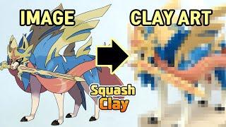 Pokémon Sword and Shield Clay Art: Zacian Legendary Pokémon!! Satisfying video