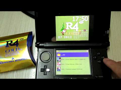 R4 3DS Gold Pro Works Fine on 3DS V4.2.0-9.flv