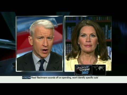 CNN: Anderson Cooper and Michele Bachmann argue over Obama