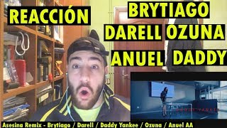 Asesina Remix - Brytiago / Darell / Daddy Yankee / Ozuna / Anuel AA (REACCIÓN)