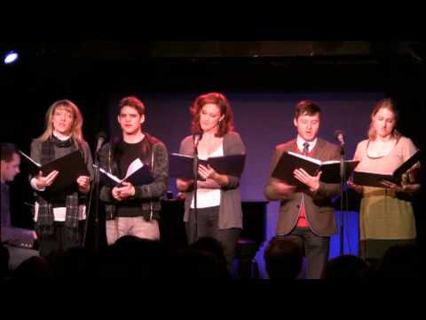 Jeremy Jordan, Bobby Steggert, Victoria Matlock, Julie Reiber, and Maria Couch sing SO MANY WINDOWS