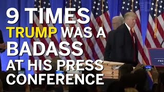 9 Times Trump Was A Badass At His PEOTUS Press Conference