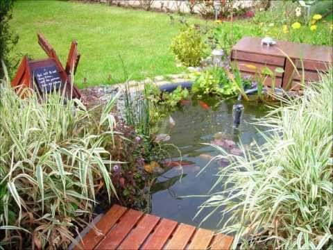Mon bassin de jardin pr form poissons rouges am nagement d co plantes y - Decoration de bassin de jardin ...