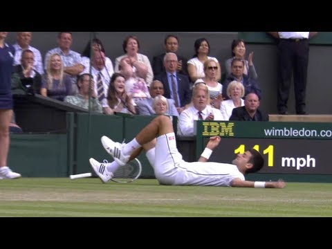 Djokovic vs. Stepanek 3rd Set Tiebreaker 2R - Wimbledon 2014