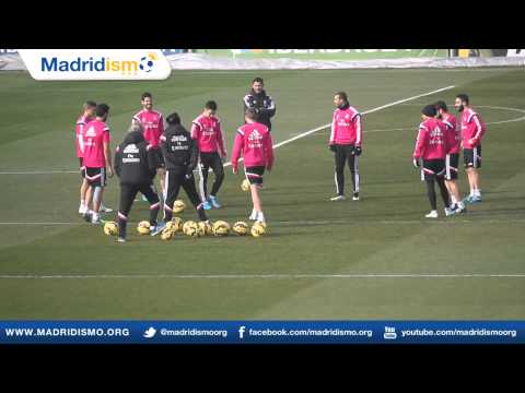 Real Madrid training ahead of Deportivo de La Coruña in Liga