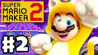 Super Mario Maker 2 - Gameplay Walkthrough Part 2 - Cat Mario and Speedrunning! (Nintendo Switch)