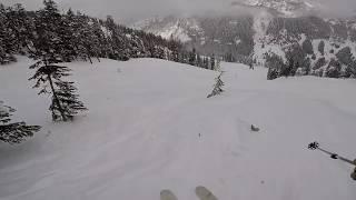 Skiing Alpental, Debbie's Gold, 2/14/19