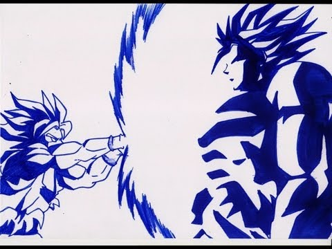 How To Draw Goku Vs Broly 孫悟空 Vs ベジータ video
