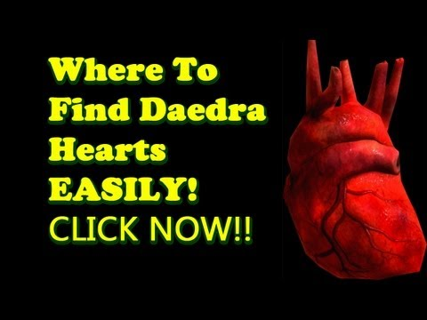 Where to find Daedra Hearts Easily - Skyrim