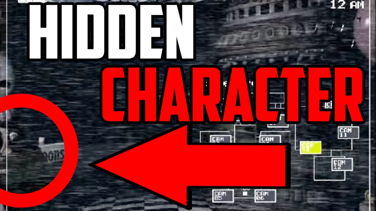 Five nights at freddy s 2 hidden new character found pirate