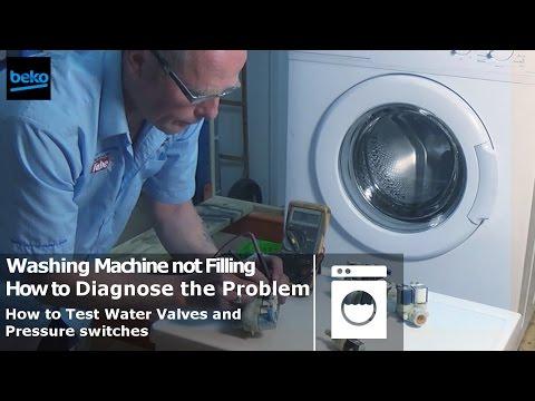 washing machine won t stop filling with water