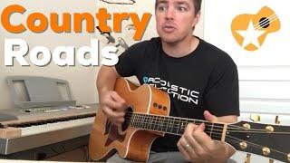 Download Lagu Country Roads Take Me Home | John Denver | Beginner Guitar Lesson Gratis STAFABAND
