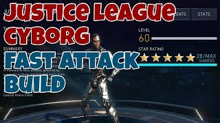 Injustice 2 Mobile | Justice League Cyborg Fast Attack Build
