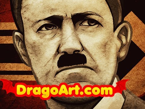 Easy Hitler Drawings How to Draw Hitler Adolf