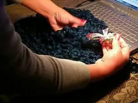 Bufandas tejidas con dos agujas