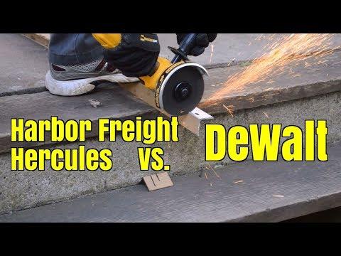 Teardown part 2: Harbor Freight Hercules and DeWalt angle grinder comparison review