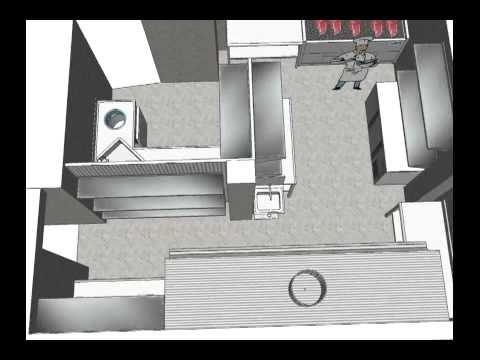 Dise o 3d reforma cocina industrial youtube - Diseno cocina industrial ...