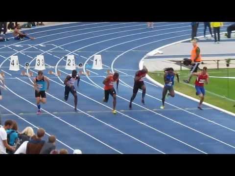 CAG 2013 Mænd 100 m HEAT 2