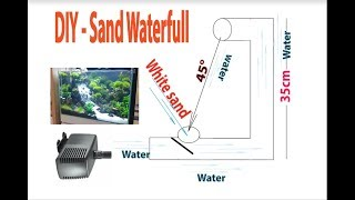How to create a waterfall in the aquarium