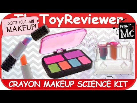 Project Mc2 Crayon Makeup Science Kit Lipstick DIY Colors Unboxing Toy Review by TheToyReviewer